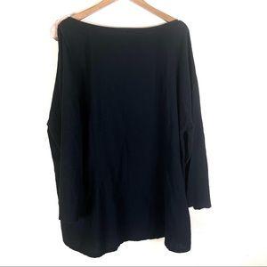 Soft surroundings Gauze pullover Black 1X